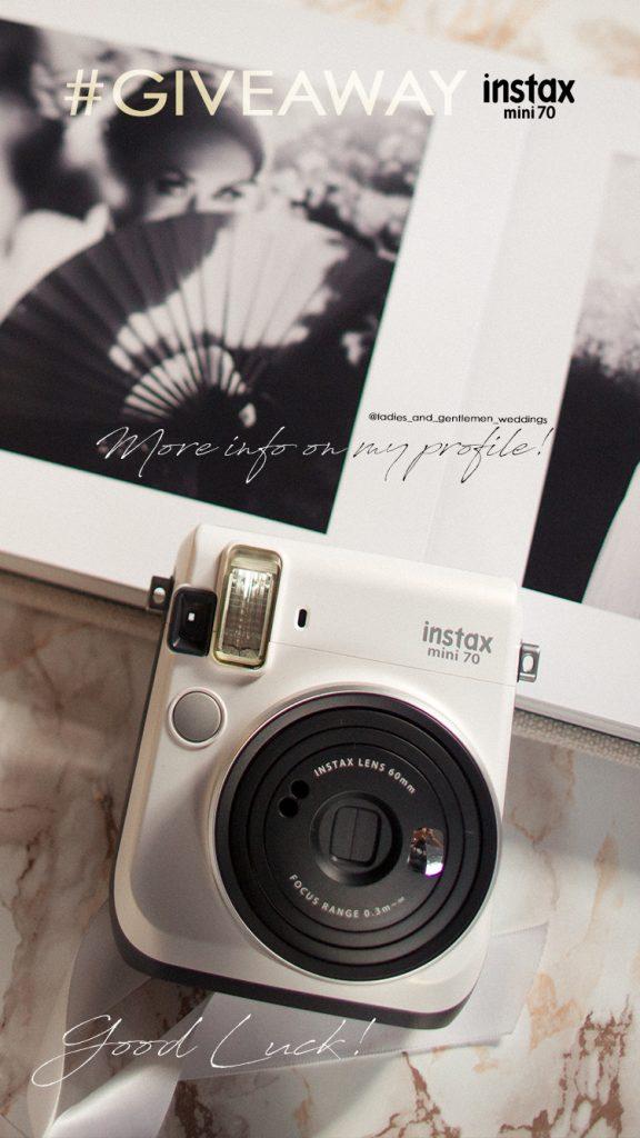 FujiFilm Instaxmini70 Giveaway wedding photography