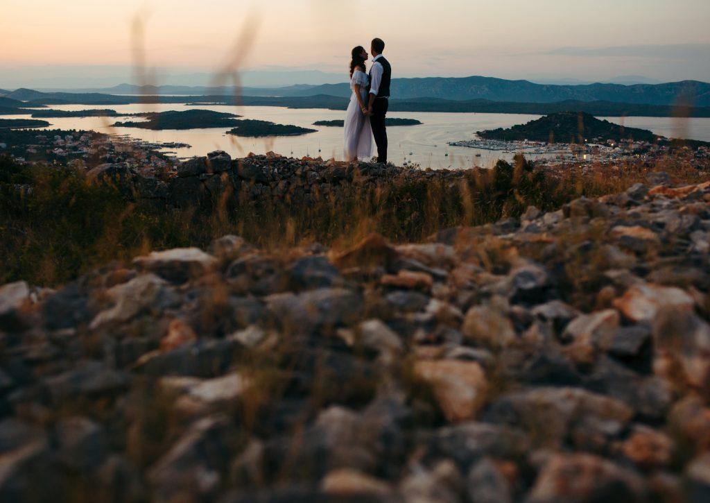 pre wedding photo session on island Murter