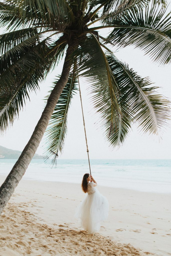 Thailand Phuket wedding photographer bride portrait