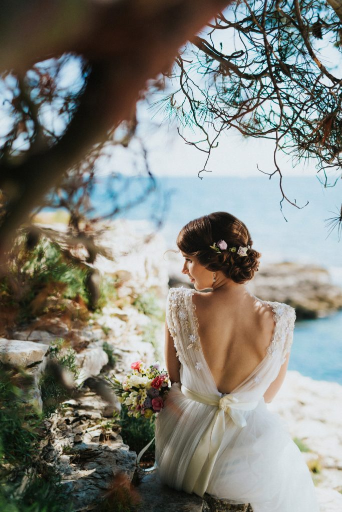 Rovinj wedding photographer beach wedding venue