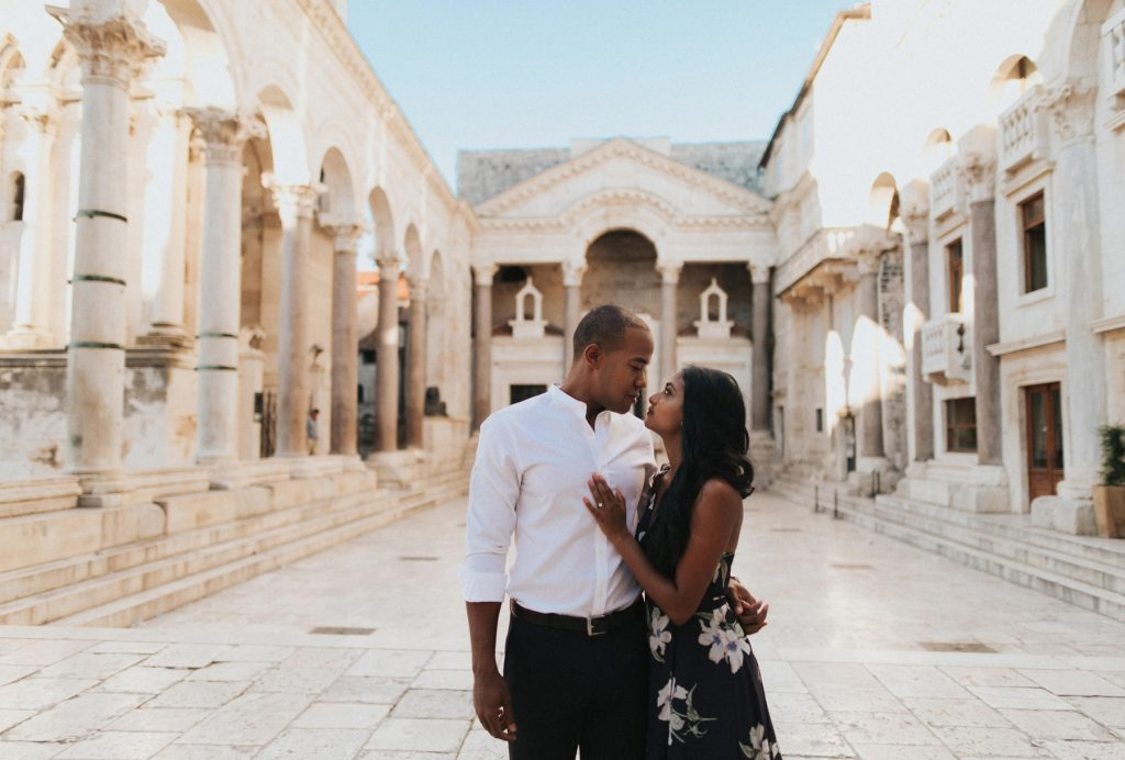 Elopement photography session in Split Crkva sv Duje